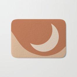 Moonrise Minimalism - Orange Bath Mat
