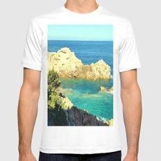 Costa Paradiso - Sardinia Mens Fitted Tee MEDIUM White