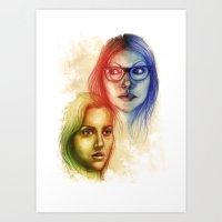 alex vause Art Prints featuring Alex Vause & Piper Chapman by Seventy-three