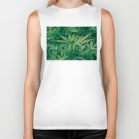 marijuana Biker Tanks featuring Marijuana Plants  by Limitless Design