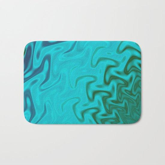 Ripples Fractal in Tropical Seas Bath Mat