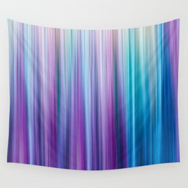 Abstract Purple and Teal Gradient Stripes Pattern Wall Tapestry