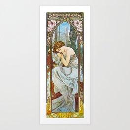 Alphonse Mucha  - Nocturnal Slumber Art Print
