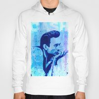 johnny cash Hoodies featuring Johnny Cash by Jason Hughes