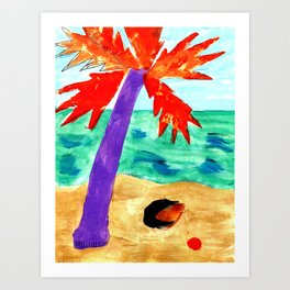 Black Coconut Art Print