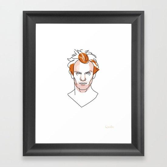 Portrait: Sting Framed Art Print