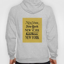 New York City Yellow Taxi and Black Typography Poster NYC Hoody