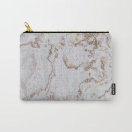 Elegant white gold marble Carry-All Pouch