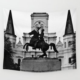 Jackson Square, squared Wall Tapestry