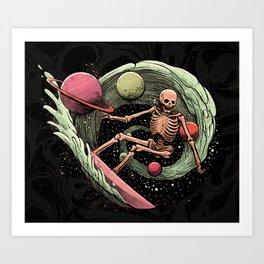 Cosmic Surf Art Print