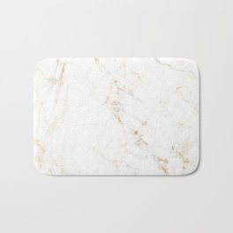 White Marble with Delicate Gold Veins Bath Mat