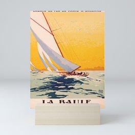retro iconic La Baule poster Mini Art Print