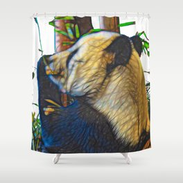 Lazing Panda Shower Curtain