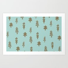 Tree pattern Art Print