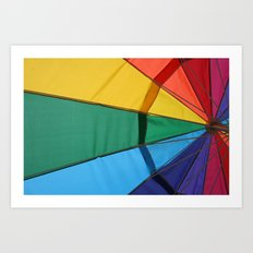 We live in a colorful world Art Print