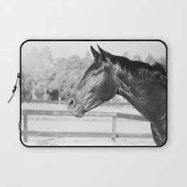 Black & White Stallion Laptop Sleeve