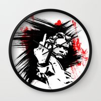 beethoven Wall Clocks featuring Beethoven FU by viva la revolucion