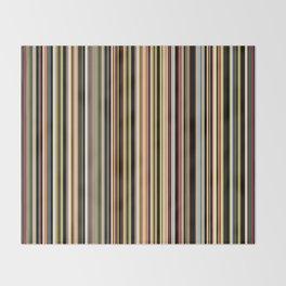 Old Skool Stripes - The Dark Side Throw Blanket