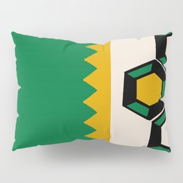 Gem Stripe - Green, Yellow, Black, Beige Pillow Sham