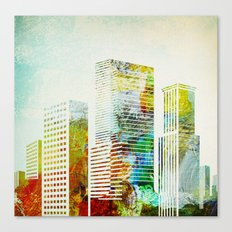 city wash I Canvas Print