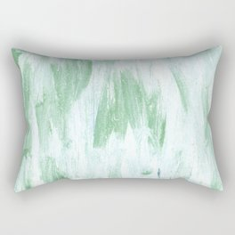 Green white abstract watercolor Rectangular Pillow