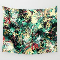 heaven Wall Tapestries featuring TROPICAL HEAVEN by RIZA PEKER