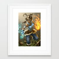 korra Framed Art Prints featuring Korra by Quirkilicious