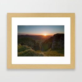 winnats pass sunrise Framed Art Print
