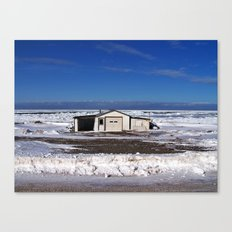 Garage and the Frozen Sea Canvas Print