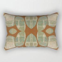 Neutral Acrylic Shape Reflection Rectangular Pillow