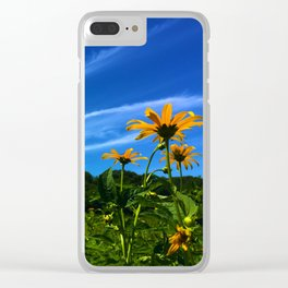 Summer Dreamin Clear iPhone Case