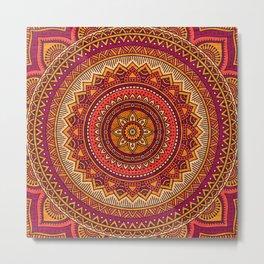Hippie mandala 33 Metal Print