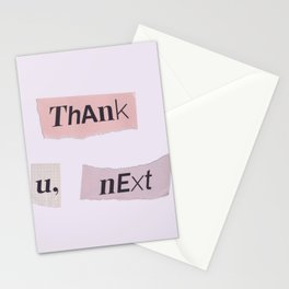thank you next - Ariana - white Stationery Cards