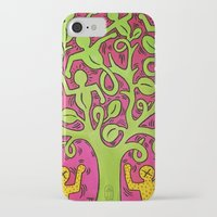 keith haring iPhone & iPod Cases featuring Copy of Tree of Life - Keith Haring by JeyJey Artworks