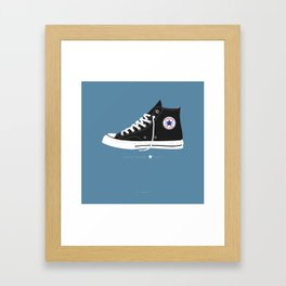 Chuck Taylor famous shoes Framed Art Print