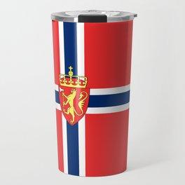 Flag of Norway Scandinavian Cross and Coat of Arms Travel Mug