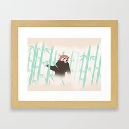 Smag the Red Panda Framed Art Print