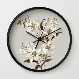 Flowers 9 Wall Clock