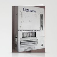 cigarette Stationery Cards featuring Cigarette by Upperleft Studios