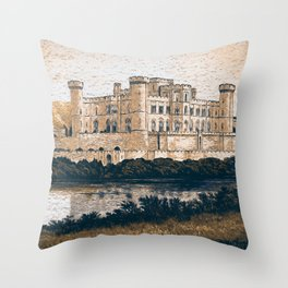 Ancient Medieval Castle Throw Pillow