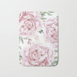 Beautiful Pink Roses Garden Bath Mat