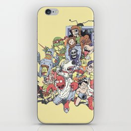 Revenge of the mixed up toons that were at some point cancelled iPhone Skin