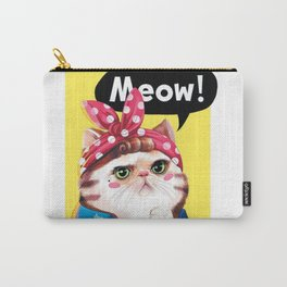 We Can Do It Cat Carry-All Pouch