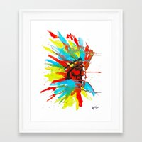 native american Framed Art Prints featuring Native American by ART HOLES