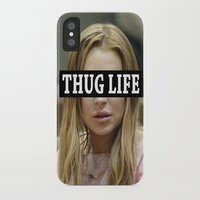 """lindsay lohan iPhone & iPod Cases featuring Lindsay Lohan """"Thug Life"""" **Signed** by ActuallyHappy"""