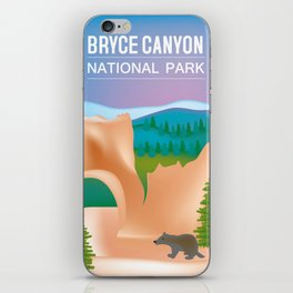 Bryce Canyon National Park, Utah - Skyline Illustration by Loose Petals iPhone Skin