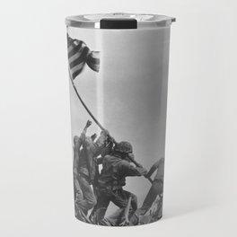 Raising The Flag On Iwo Jima Travel Mug