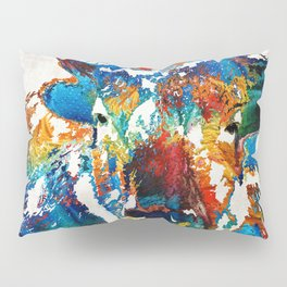 Colorful Buffalo Art - Sacred - By Sharon Cummings Pillow Sham