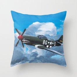 P51 Mustang- Milwaukee style Throw Pillow