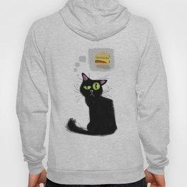 Cat want cheeseburger Hoody